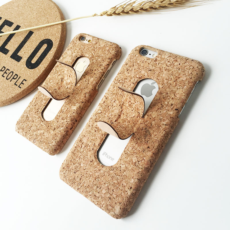 Fashion Wooden Kickstand Case For Apple iPhone 7 6 6S Plus U Shape Stand Hard Bamboo Wood Texture Cover For iPhone X 7 8 Case