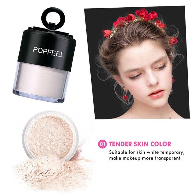 New Popfeel Matte Loose Powder Oil Control Makeup Contour Foundation Powder 3 Colors Bright Concealer Setting Powder TSLM1 2