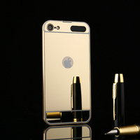 2017 New Luxury Woman Lady Girl For Apple IPod Touch 6 Case Mirror Back Cover Aluminum