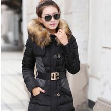 New Winter Coat Women Nice The Long Section Of Winter Jacket Women Stitching Padded Jacket Artificial Fur Collar Women's Jacket