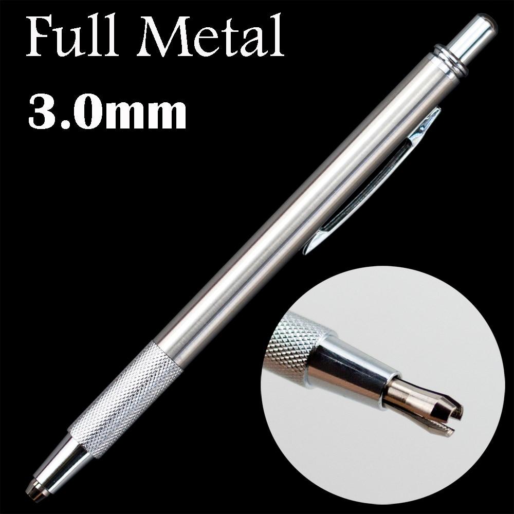 3.0mm Full Metal Mechanical Pencils Simple Lead Holder Steel Not-staedtler Office School Supplies Supplies