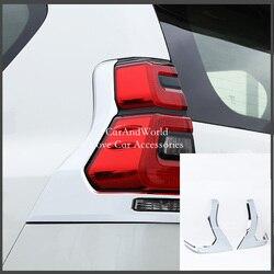 Samochód stylizacji ABS z tyłu samochodu światło tylne cekiny taśmy pokrywa dla Toyota Land Cruiser Prado 2018 2019 Auto dekoracji akcesoria