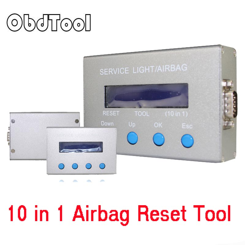 ObdTool Multi brand Cars Mileage Correction Tool 10 in 1 Airbag Reset Tool and Service Light Oil Reset Tool