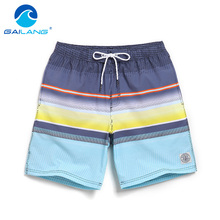Gailang Brand Beach Shorts Casual Man Boxer Trunks Bottom Swimwear Swimsuits
