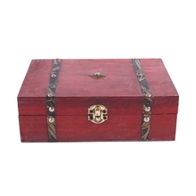 Rectangle Treasure Box Pirate Small Trunk for Jewelry Storage,Cards Collection,Gifts and Home Decoration