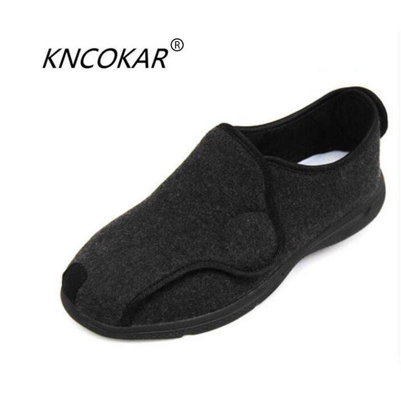 Kncokar 2018 봄과 가을 기간 여성 발 넓은 bunions는 노인 당뇨병 신발을 돌보는 데 사용됩니다 36 41-에서여성용 플랫부터 신발 의  그룹 1