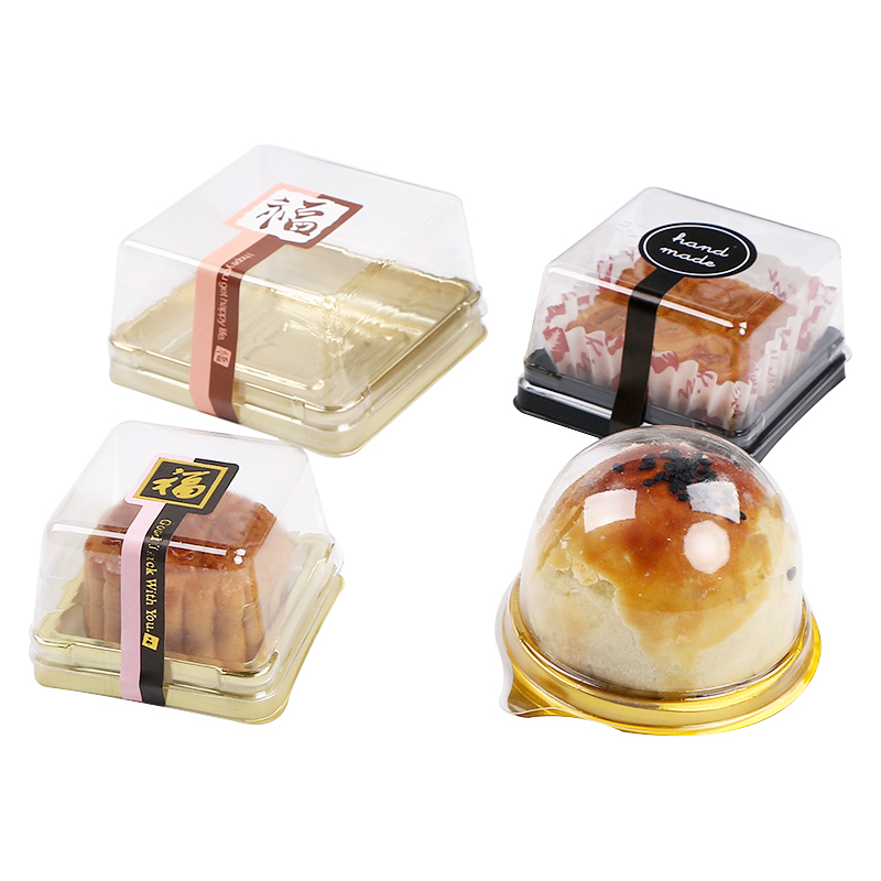 50Sets Clear Transparent Gift Box Moon Cake/ Cupcake Packaging Box Christmas Wedding Party Cake/Candy Box Container Holder