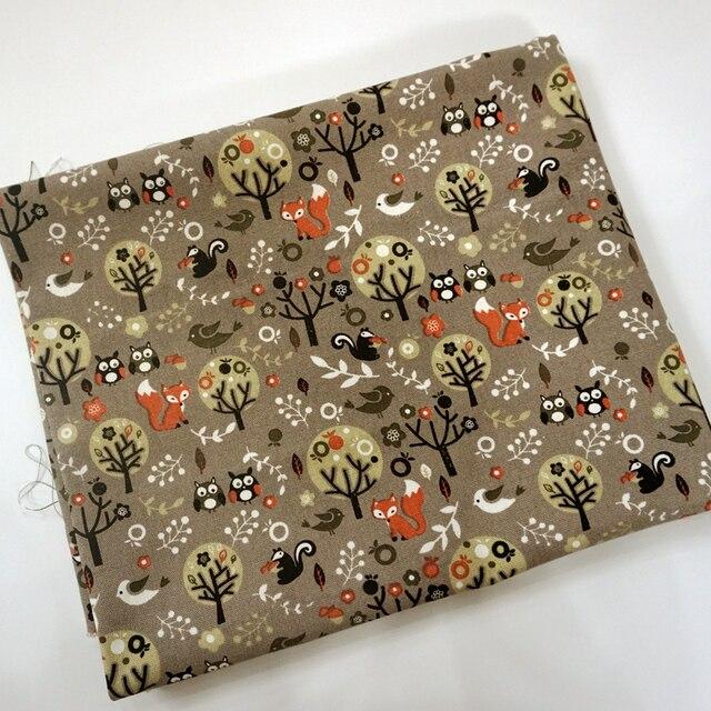 90*145 cm búho pintura lona de algodón Telas patchwork para DIY ...