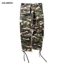 Aolamegs hombres Pantalones cargo baggy camuflaje hip hop Dancing Pantalones  multi-bolsillos High Street Moda hombre casual jogg. 73057990ba0
