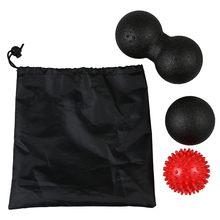 Набор массажных Мячей 1 мяч для Лакросса+ 1 двойной мяч для Лакросса+ 1 колючий мяч для триггерной точечной терапии-отпустите тугие мышцы