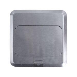 Image 2 - Coswall tout en aluminium argent panneau ue Standard Pop Up prise de sol prise électrique avec Port dordinateur Internet RJ45