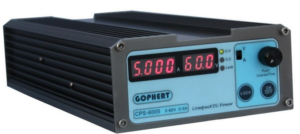 CPS-6005 300W (110Vac/ 220Vac) 0-60V/0-5A,Gopher Compact Digital Adjustable DC Power Supply 110vac 30 cps dh48j digital counter relay