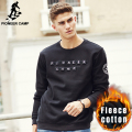 Pioneer Camp New autumn winter thick hoodies men brand male warm fleece sweatshirts top quality 100% cotton men hoodies 699026