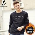 Pioneer Camp New autumn winter thick hoodies men brand male warm fleece sweatshirts top quality 100% cotton men hoodies 699026
