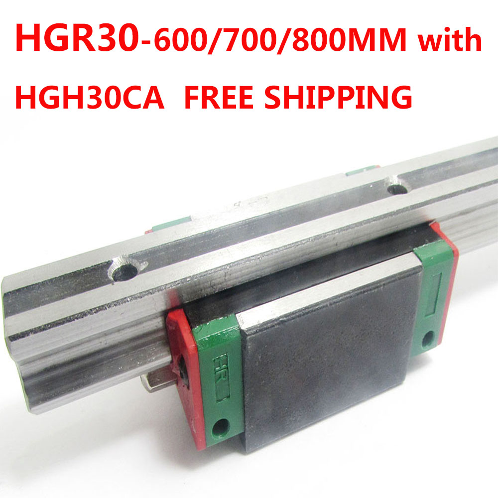 1PC free shipping HGR30 Linear Guide Width 30MM Length 600MM/700MM/800MM with 1PC HGH30CA Slider for cnc xyz axis large format printer spare parts wit color mutoh lecai locor xenons block slider qeh20ca linear guide slider 1pc