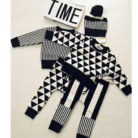 2016 Spring Autumn Kids Clothes Nununu Children Sets Sweaters Pants For Baby Boys Girls Tiny Cotton