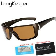 Longkeeper óculos de sol unissex polarizado, vintage, rebites, design retrô