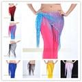 Танец живота цепочка на пояс хип-шарф блестки повязки пояса 10 цветов для вашего выбора B-001
