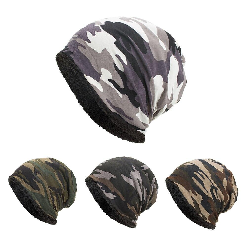 Women Men Warm Baggy Camouflage Crochet Winter Wool Ski Beanie Skull Caps Hat Winter Hats For Women Women's Hats