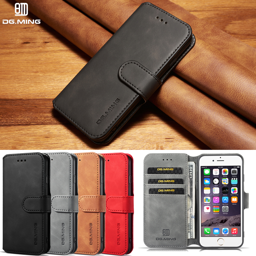 J6 Flip Magnetic Phone Cases sFor Samsung Galaxy J6 2018 Case Brand Leather Vintage Wallet cover For Samsung J6 Plus case Fundas