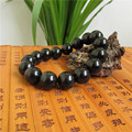 Pure natural Double Rainbow Obsidian Bracelet men and women shall bead jade hand on circular beads jewelry genuine