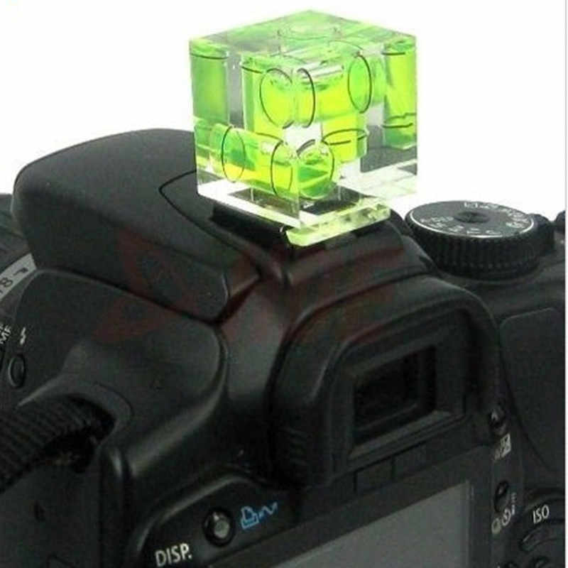 Camera Accessories Triple 3 Axis Bubble Spirit Level Hot Shoe Adapter For Dslr Slr Cameras Photo Studio Accessories