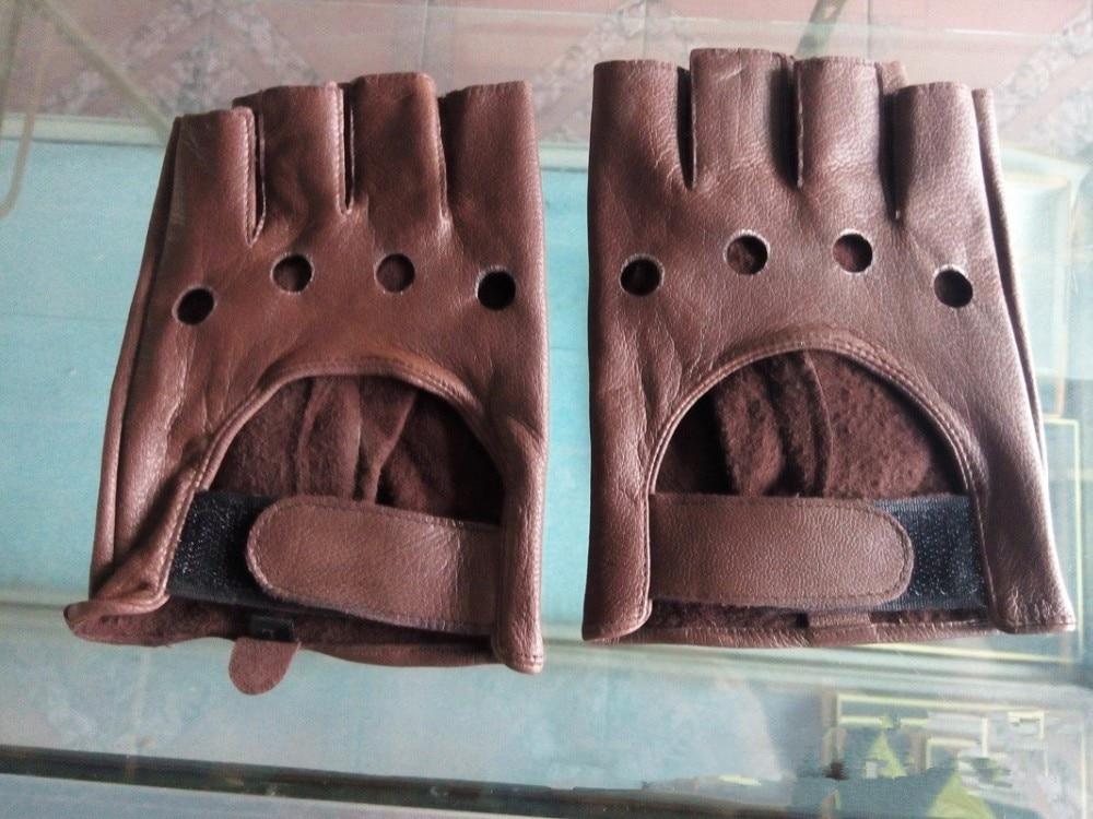 BACHASH, козья кожа, Прямая поставка,, модные женские перчатки для вождения с полупальцами, 1 шт., кожаные перчатки для женщин, одноцветные