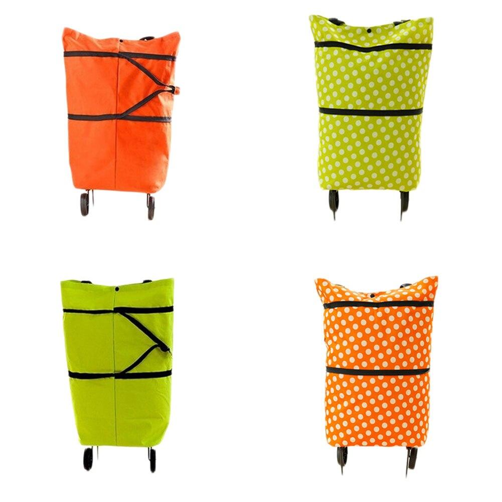 Новое поступление складной буксир мешок автомобиль скрыть колесных сумка натяжения бар корзину тележка хозяйственная сумка Оксфорд сумка ...