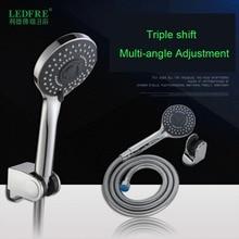 цены LF86014 High Pressure Shower Head Water Saving Rainfall Chrome Shower Head Bathroom Square Spray Nozzle Head