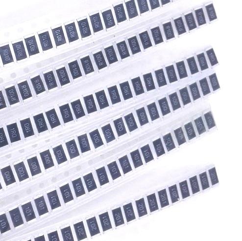 2512 SMD Resistor kit 0.1 ohm to 200 ohm 6 values*50pcs electronic diy kit 50 pcs 2512 smd resistor 1w 0 1r 1
