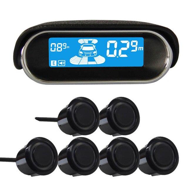 6/sensors NY3030 Car LCD Parking Sensor Kit Display for all cars parking car detector  parking assistance parking sensor
