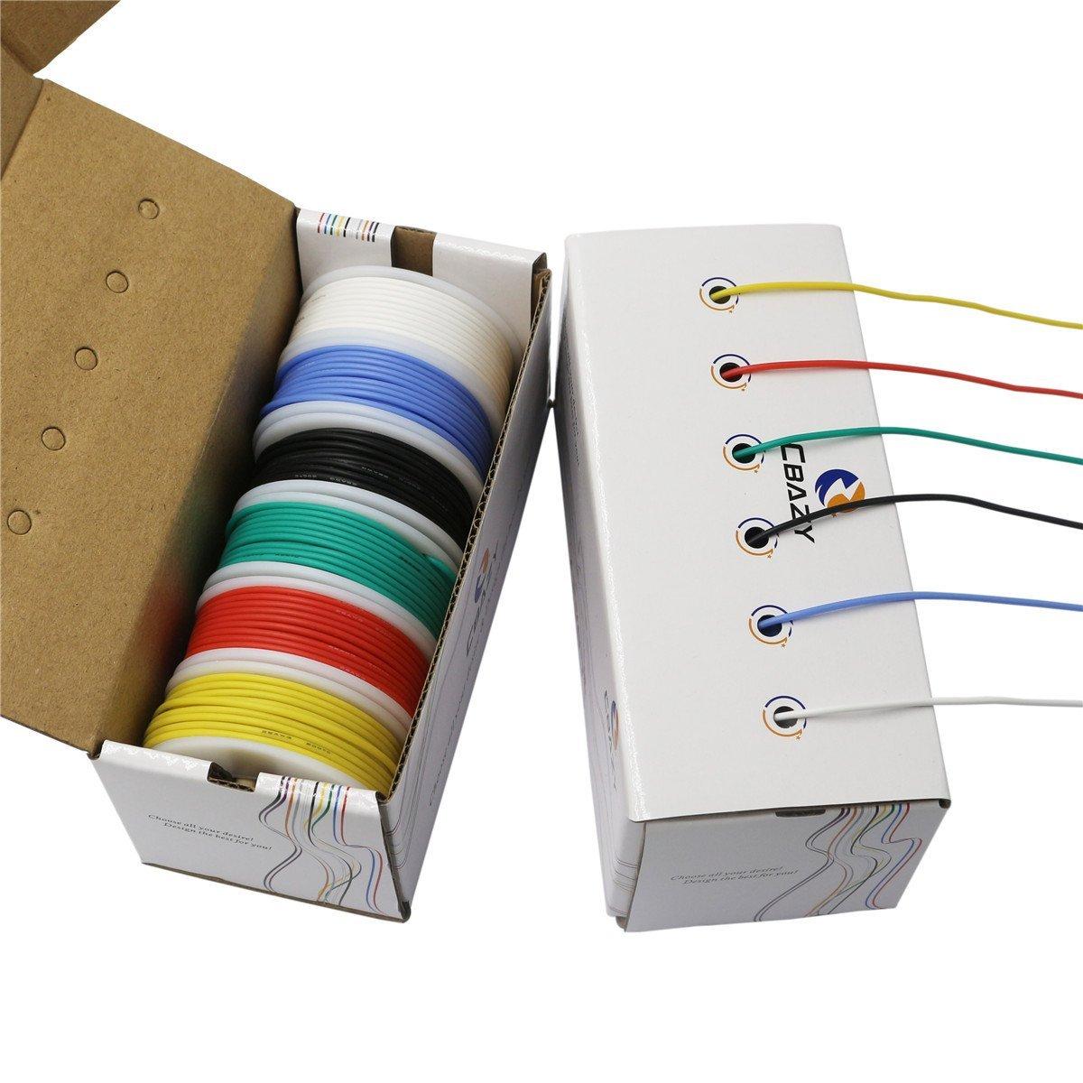 CBAZY Schaltdraht Kit (Litze Kit) 22 Gauge Flexible silikonkautschuk ...