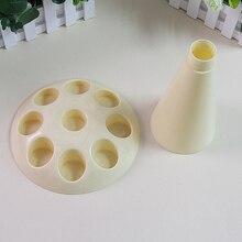 Diy fondant kuchen dekorieren creme piping gefrier nozzle spritzbeutel halter tray stand küche zubehör