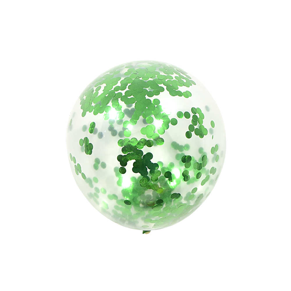 "12"" Confetti Green Balloons Gold Wedding Party Decoration Children'S Day Happy Birthday Holidays Party Decoration Marriage"