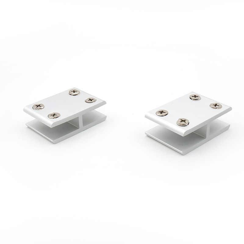 Diamoen Clips de Acero Inoxidable para Puertas de Vidrio Bisagra Conjunto de Cristal del escaparate Gabinete Abrazadera para 5-8 mm Puerta de Vidrio
