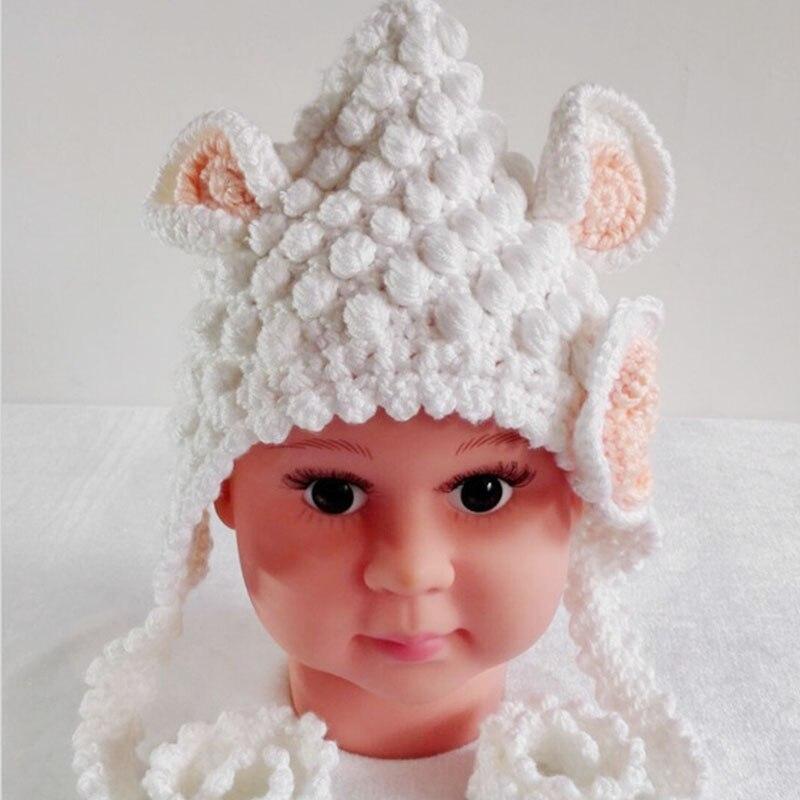 Quality Crochet Woolen Newborn Baby Hat Cute Ears Children ...