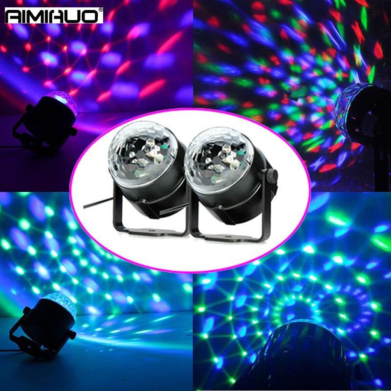 AIMIHUO 1pcs LED RGB Crystal Magic Ball Effect Light DJ CLub Disco Party Stage Lightings multi-color changable Station light