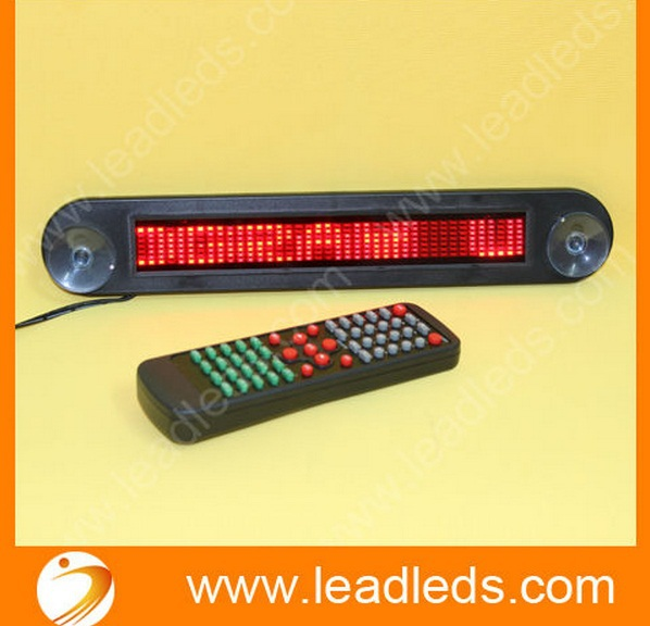 Indoor Car LED Moving Sign With Red Scrolling Message Display 12v