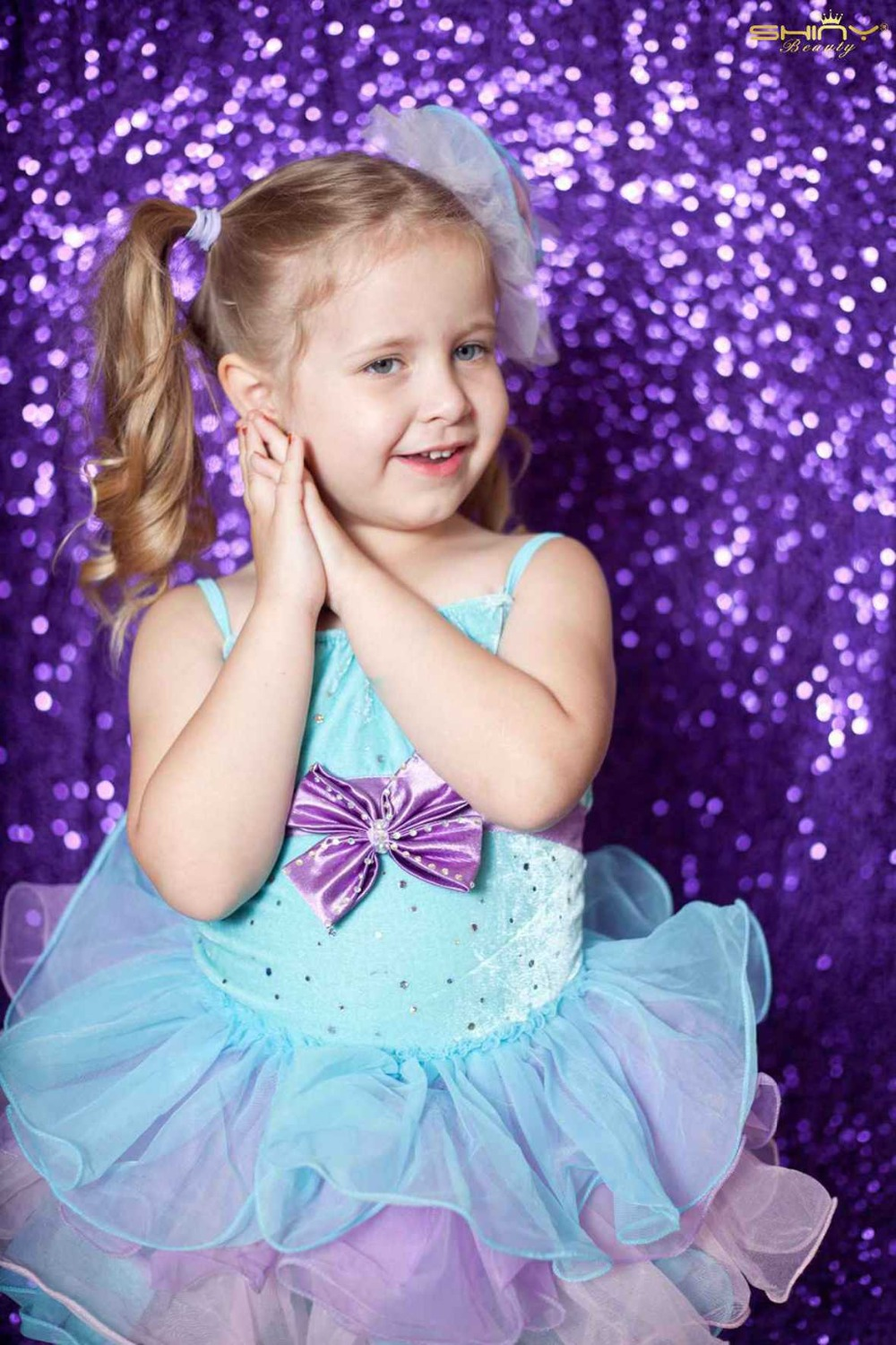 Shiny Purple Sequin Photography Backdrop 8FTx8FT Photo Booth for Wedding/Party Best Decoration Purple Color ay