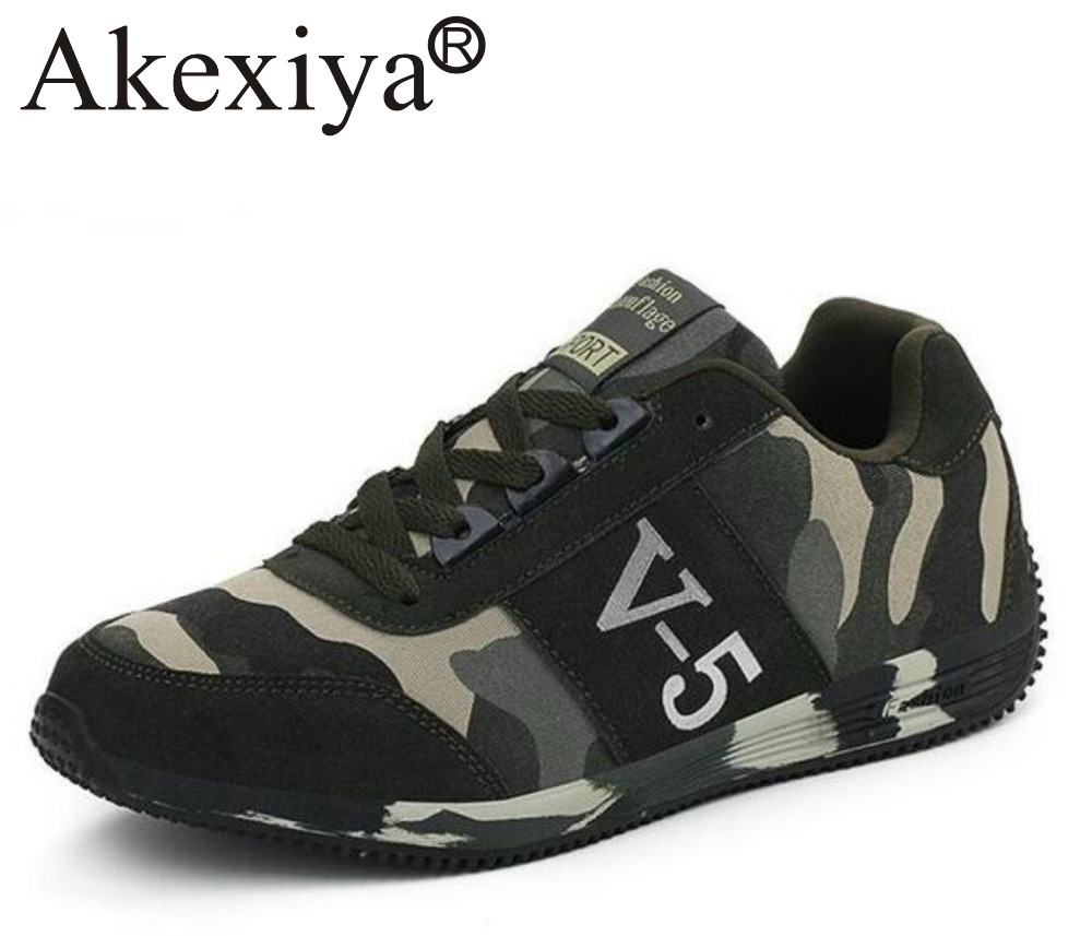 Akexiya New Women And Men Camouflage Sneakers Unisex Outdoor Athletic Sport Travel Shoes Comfortable Running Shoes Sales