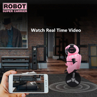 Newest Smart RC Robot model F4 0.3MP Camera Wifi FPV APP Control Intelligent G sensor Smart Robot Super Carrier RC Toy Gift