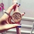 Роскошные Rhinostone Вращающийся Кварцевые Часы Женщины Нежный Розового Золота Женский Наручные Часы Relogio Feminino Relojes Mujer