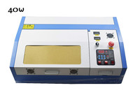 New 40W 200*300mm Mini CO2 Laser Engraver Cutting Machine 3020 Laser with Honeycomb Platform