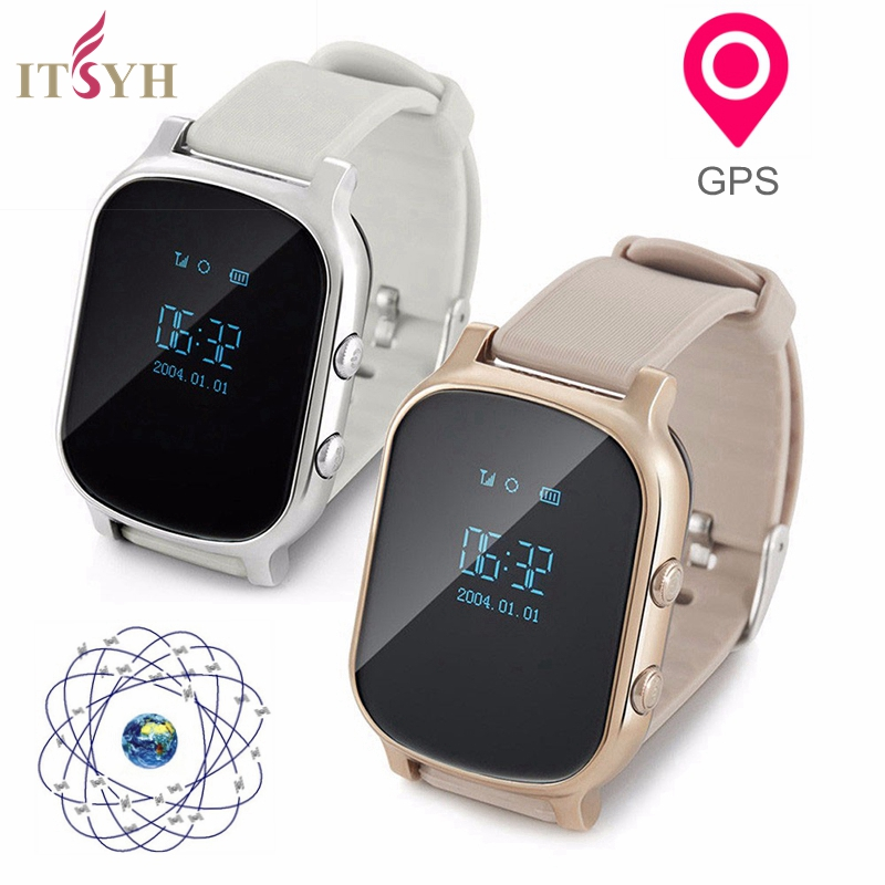 ITSYH GPS WATCH PHONE LED T58 Smart watch GPS WIFI Tracker Locator Anti-Lost Watch for Student with SOS Remote Monitor TW-802 ds18 waterproof smart baby watch gps tracker for kids 2016 wifi sos anti lost location finder smartwatch for ios android pk q50