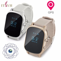 OLED Screen T58 Smart Watch GPS WIFI Tracker Locator Anti Lost Watch For Elder Midddle Student