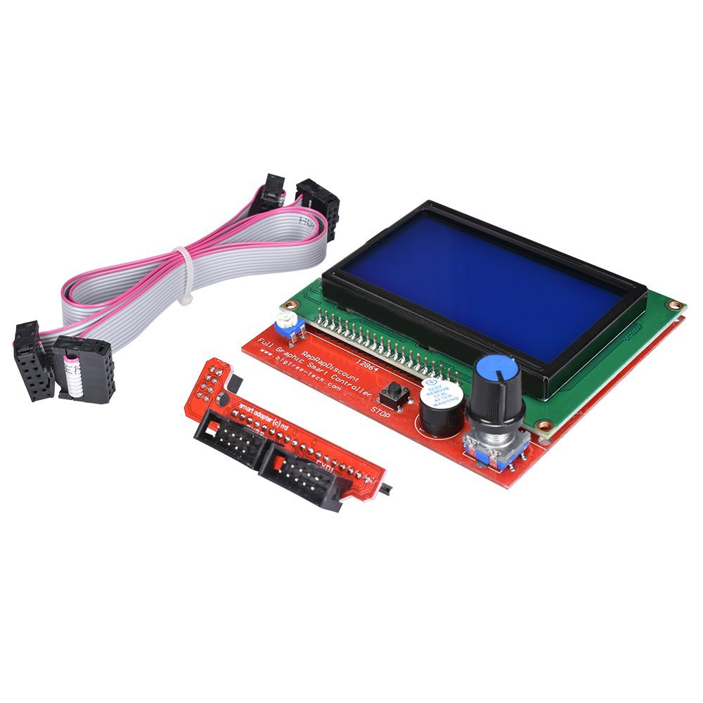 Smart Parts RAMPS 1.4 Controller Panel 12864 LCD Display Monitor Motherboard Blue Screen Module for 3d printer