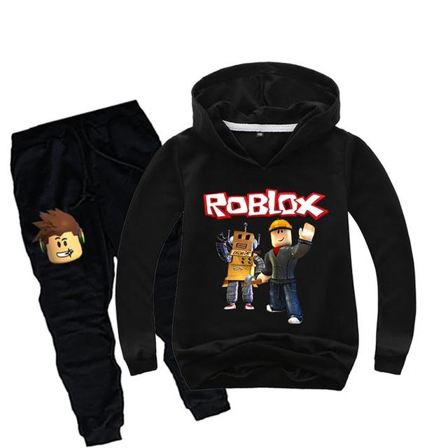 Costume Game Roblox Kids Clothes Set Children Pullover Sweatshirt Hoodies+Long Pants Suit Spring Fall Teen Sports Boys Tracksuit