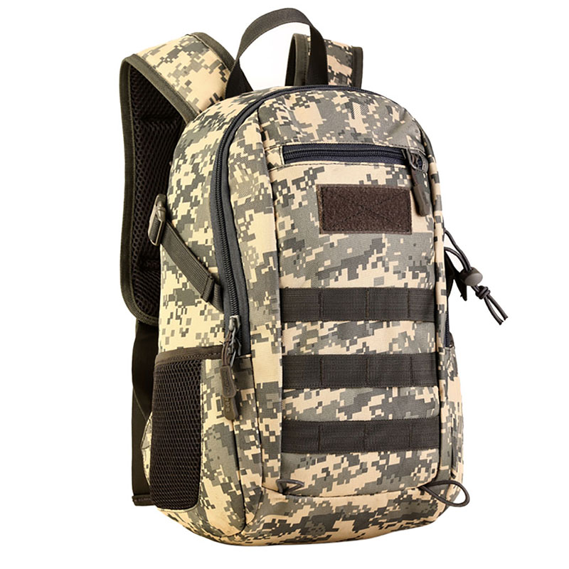 12L Mini Daypack Military MOLLE Backpack Rucksack Gear Tactical Assault Pack Student School Bag for Traveling Camping Trekking j lqarmy 3 day expandable backpack with waist pack large rucksack tactical backpack molle assault bag for day hiking tan