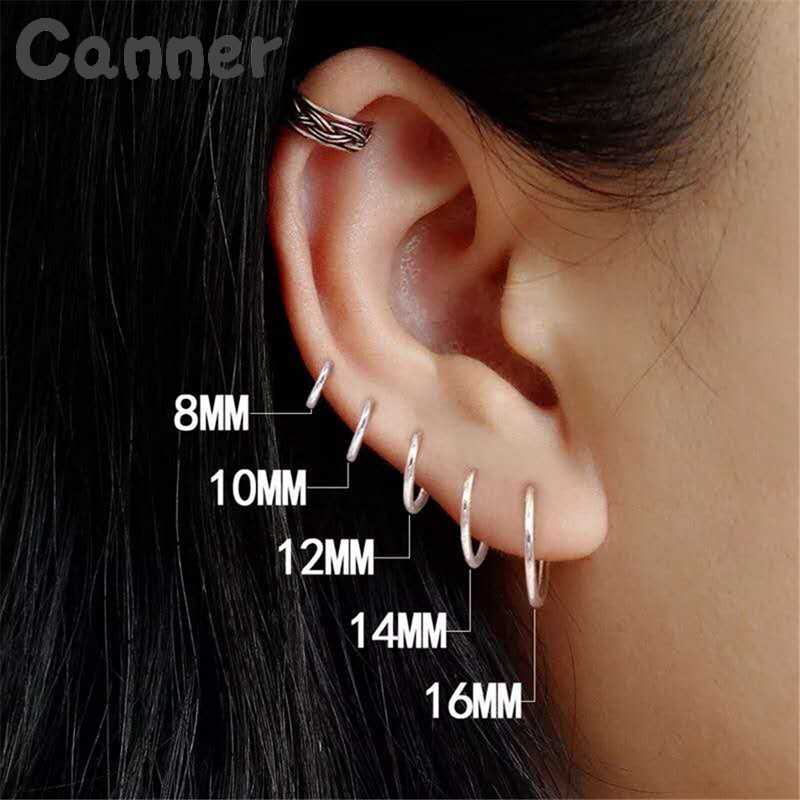 2019 Simple Small Hoop Earrings 925 Sterling Silver Hoop Earrings For Women Ear Bone Buckle Round Circle Earrings Jewelry Gift 4