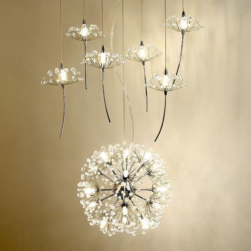 Светодиодная лампа современный хрустальные люстры декор дома светильники для Гостиная Спальня фойе Кухня люстры железа 3 Вт G4 лампы